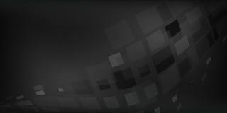 Il fondo astratto grigio nero ha illustrato i grafici con le scatole di illuminazione Immagine Stock