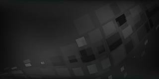 Il fondo astratto grigio nero ha illustrato i grafici con le scatole di illuminazione Fotografia Stock Libera da Diritti
