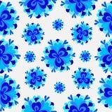 Il fondo astratto variopinto fiorisce il modello blu Fotografia Stock Libera da Diritti