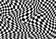 Il fondo bianco del nero a quadretti dell'onda per il campionato della corsa di sport e l'affare finiscono il vettore di successo Fotografie Stock Libere da Diritti