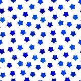 Il fondo blu luminoso delle stelle dell'acquerello può essere copiato senza alcune cuciture Illustrazione della mano Illustrazion royalty illustrazione gratis