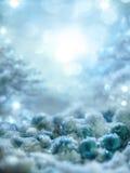 Il fondo blu magico con neve ed il ghiaccio calcolano Fotografie Stock Libere da Diritti