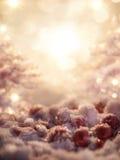 Il fondo blu magico con neve ed il ghiaccio calcolano Fotografie Stock