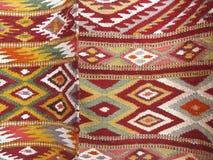 Il fondo Colourful della coperta si è diviso in due sezioni Immagini Stock Libere da Diritti