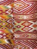 Il fondo Colourful della coperta si è diviso in due sezioni Immagine Stock Libera da Diritti