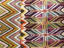 Il fondo Colourful della coperta si è diviso in due sezioni Fotografia Stock Libera da Diritti