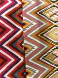 Il fondo Colourful della coperta si è diviso in due sezioni Fotografie Stock Libere da Diritti