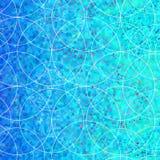 Il fondo con i cerchi casuali progetta i colori blu Fotografie Stock