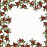 Fondo con il vischio per i disegni di Natale Fotografia Stock
