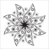 Il fondo con le foglie ed i fiori per progettazione imballano Fotografie Stock