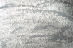 Il fondo concreto strutturato di bianco ha dipinto la pittura grigia fotografia stock