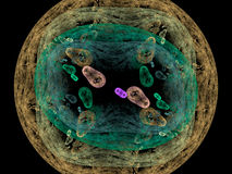 Il fondo dei batteri rende Immagine Stock