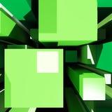 Il fondo dei cubi mostra l'arte di Digital Fotografia Stock Libera da Diritti