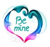 Il fondo del bello biglietto di S. Valentino con il cuore di colore e la t astratti Immagini Stock Libere da Diritti