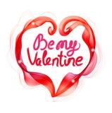 Il fondo del bello biglietto di S. Valentino con il cuore di colore e la t astratti Fotografia Stock