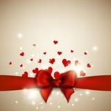 Il fondo del biglietto di S. Valentino Fotografie Stock Libere da Diritti