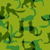 Il fondo del cammuffamento con verde protegge i gatti Fotografie Stock