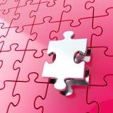 Il fondo del puzzle di puzzle con di un pezzo sta fuori Fotografie Stock
