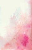 Il fondo dell'acquerello con spruzza dei punti rosa e teneri illustrazione di stock