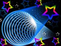 Il fondo della bobina significa la luminosità e le stelle dell'arcobaleno Fotografia Stock Libera da Diritti