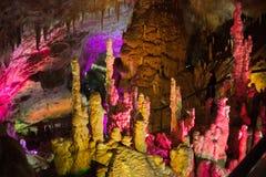 il fondo della Caverna-pietra nel PROMETHEUS frana la Georgia Fotografia Stock