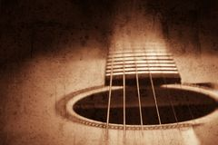 Il fondo della chitarra, lerciume ha strutturato l'immagine Fotografia Stock Libera da Diritti