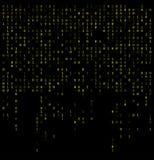 Il fondo di caduta delle cifre binarie, sottrae la carta da parati 0,1 illustrazione vettoriale