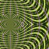 Il fondo di energia, campo magnetico di frattale allinea nel colore verde andante, modello scientifico dell'estratto Immagine Stock Libera da Diritti