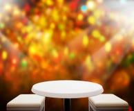 Il fondo di festa con 3d di legno vuoto rende Fotografie Stock