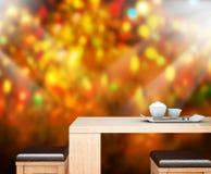Il fondo di festa con 3d di legno vuoto rende Fotografia Stock Libera da Diritti