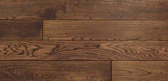 Il fondo di legno per progettazione, quercia di struttura ha tonificato il bordo marrone Fotografie Stock