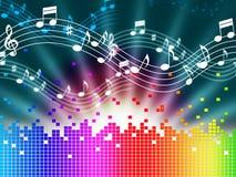 Il fondo di musica dell'arcobaleno significa Melody Singing And Soundwaves Fotografia Stock Libera da Diritti