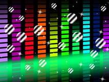 Il fondo di musica mostra l'armonia e lo schiocco di canto Fotografie Stock