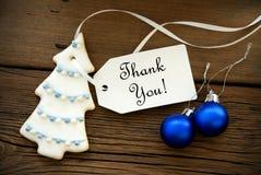 Il fondo di Natale con vi ringrazia Fotografia Stock Libera da Diritti