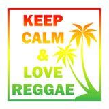 Il fondo di reggae con i pulms di pendenza profila e cita Royalty Illustrazione gratis