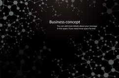 il fondo di scienza, e-prodotto chimico del fondo nero della molecola compone la tecnologia medica o scientifico genetico illustrazione di stock