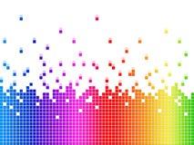 Il fondo di Soundwaves dell'arcobaleno mostra le canzoni e gli artisti di musica Immagine Stock Libera da Diritti