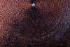 Il fondo di vecchia padella del metallo Fotografia Stock Libera da Diritti