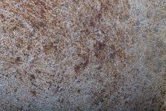Il fondo di vecchia padella del metallo Fotografie Stock