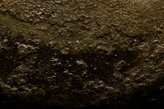 Il fondo di vecchia padella della ghisa modificato Immagini Stock