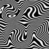 Il fondo di vettore liquefa in bianco e nero Ispirato da struttura liquida del modello della zebra royalty illustrazione gratis