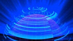 Il fondo digitale di distorsione di vetro del globo, 3d astratto rende, contesto generato da computer illustrazione vettoriale