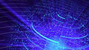 Il fondo digitale di distorsione di vetro del globo, 3d astratto rende, contesto generato da computer illustrazione di stock