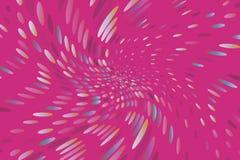 Il fondo dinamico luminoso con i punti di turbine, ovali gradisce i coriandoli Illustrazione di vettore Stile moderno e minimalis royalty illustrazione gratis