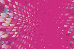 Il fondo dinamico luminoso con i punti di turbine, ovali gradisce i coriandoli Illustrazione di vettore Stile moderno e minimalis illustrazione vettoriale