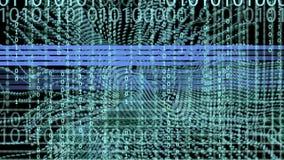 Il fondo e l'animazione di codice binario con l'onda obiettano nel moto royalty illustrazione gratis