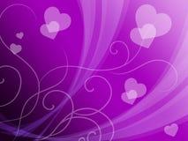 Il fondo elegante dei cuori significa la passione delicata o le nozze fini Immagine Stock