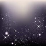 Il fondo elegante di natale con le stelle e splende Fotografie Stock Libere da Diritti