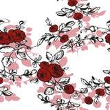 Il fondo floreale senza cuciture con è aumentato Fotografie Stock Libere da Diritti