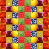 Il fondo fruttifica fondo del collage Fotografia Stock